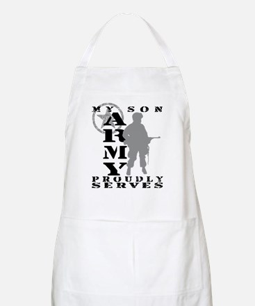 Son Proudly Serves - ARMY BBQ Apron