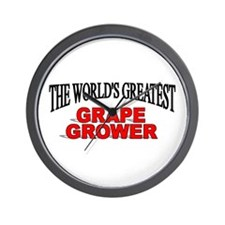 """The World's Greatest Grape Grower"" Wall Clock"