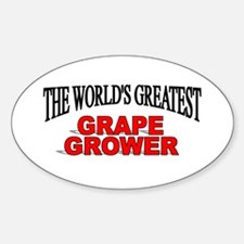 """""""The World's Greatest Grape Grower"""" Oval Decal"""