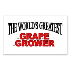 """""""The World's Greatest Grape Grower"""" Decal"""