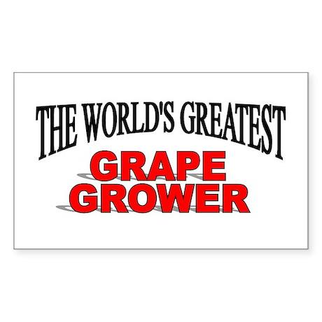 """The World's Greatest Grape Grower"" Sticker (Recta"