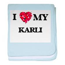 I love my Karli baby blanket
