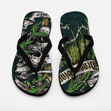Dragon Slayer Crest Flip Flops