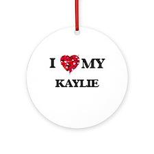 I love my Kaylie Ornament (Round)