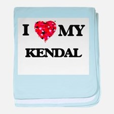I love my Kendal baby blanket