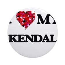 I love my Kendal Ornament (Round)