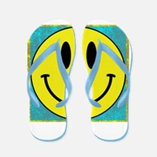Happy FACE Smiley Flip Flops