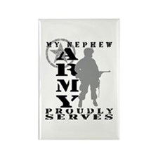 Nephew Proudly Serves - ARMY Rectangle Magnet
