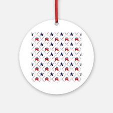 Republican Diamond Pattern Ornament (Round)