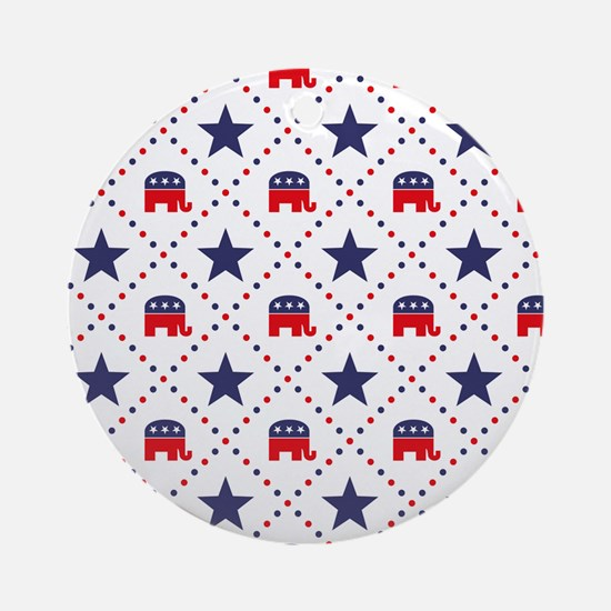 Republican Diamond Pattern Ornament (Round)