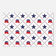 Republican Diamond Patter Postcards (Package of 8)