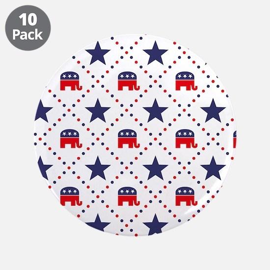 "Republican Diamond Pattern 3.5"" Button (10 pack)"