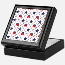 Republican Diamond Pattern Keepsake Box