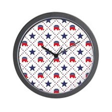 Republican Diamond Pattern Wall Clock