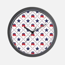 Republican Diamond Pattern Wall Clock