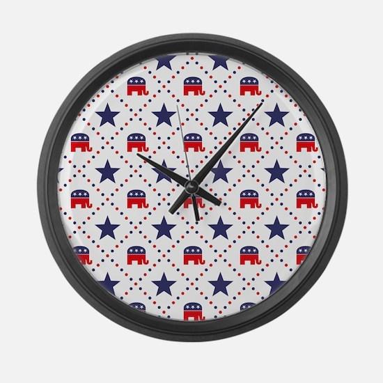 Republican Diamond Pattern Large Wall Clock