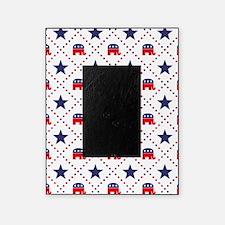 Republican Diamond Pattern Picture Frame