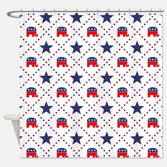 Republican Diamond Pattern Shower Curtain