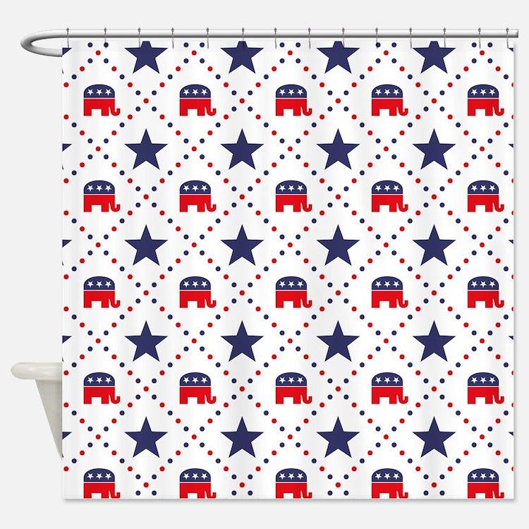 Republican Diamond Pattern Shower Curtain