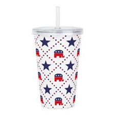 Republican Diamond Pat Acrylic Double-wall Tumbler