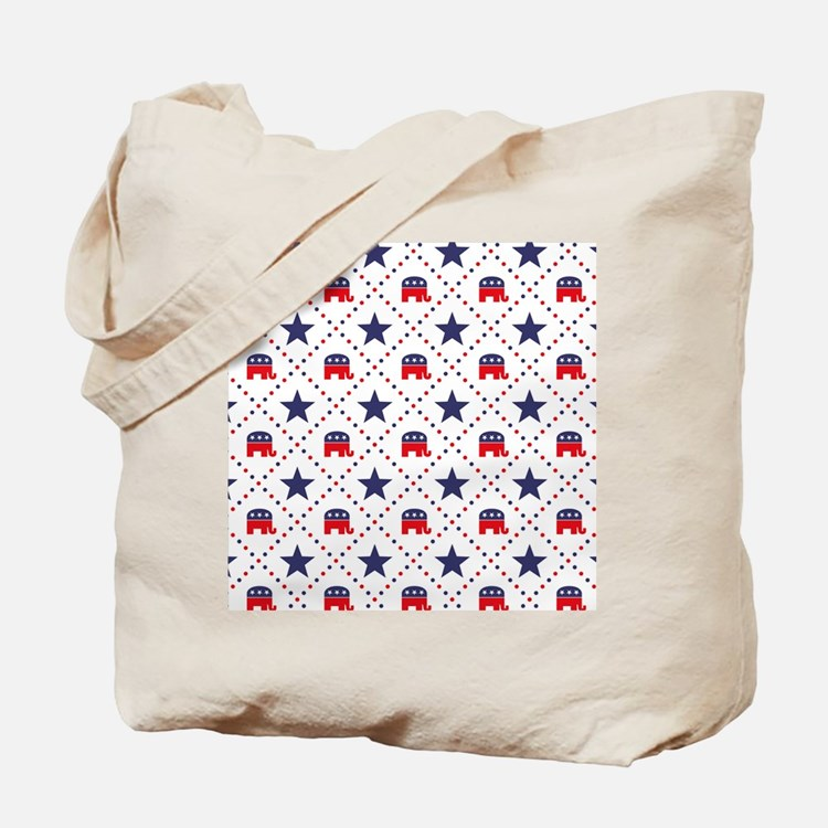 Republican Diamond Pattern Tote Bag