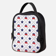 Republican Diamond Pattern Neoprene Lunch Bag