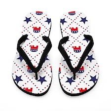 Republican Diamond Pattern Flip Flops