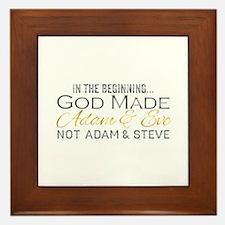 Adam and Steve Framed Tile