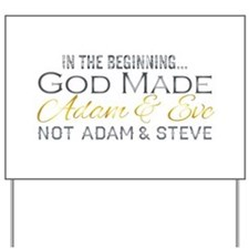 Adam and Steve Yard Sign
