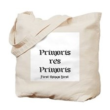 Latin First Things First Tote Bag