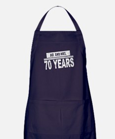 Mr. And Mrs. 70 Years Apron (dark)