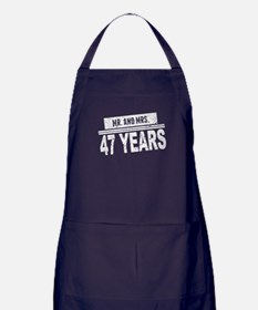 Mr. And Mrs. 47 Years Apron (dark)
