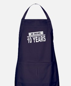 Mr. And Mrs. 10 Years Apron (dark)