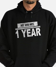 Mr. And Mrs. 1 Year Hoodie