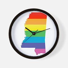 mississippi pride Wall Clock