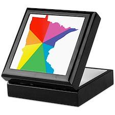 minnesota rainbow Keepsake Box