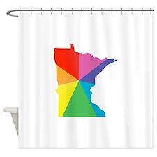 minnesota rainbow Shower Curtain