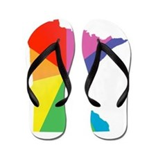 minnesota rainbow Flip Flops