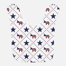Democrat Diamond Pattern Bib