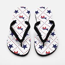 Democrat Diamond Pattern Flip Flops