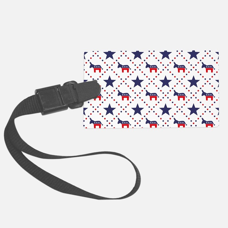 Democrat Diamond Pattern Luggage Tag