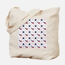 Democrat Diamond Pattern Tote Bag