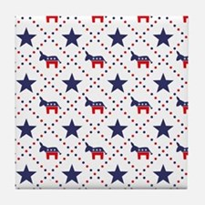 Democrat Diamond Pattern Tile Coaster