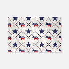 Democrat Diamond Patter Rectangle Magnet (10 pack)