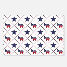 Democrat Diamond Pattern Postcards (Package of 8)