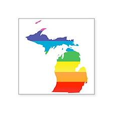 michigan rainbow Sticker