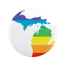 michigan rainbow Button