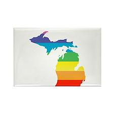 michigan rainbow Magnets