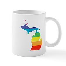 michigan rainbow Mugs