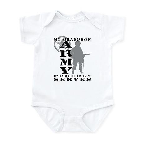 Grandson Proudly Serves - ARMY Infant Bodysuit